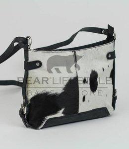 Bear Design Schoudertasje 'Petra' HH4099 Cow Zwart