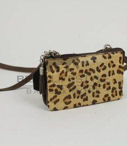 Bear Design Umhängetasche HH4887 Braun/Cheetah