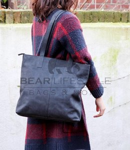 Bear Design Shopper Dark Nature Libelle HD35135 Schwarz