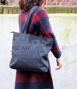 Bear Design Shopper Dark Nature 'Libelle' Zwart HD35010