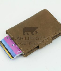Bear Design Figuretta Anti-Skim Geldbörse Hellbraun