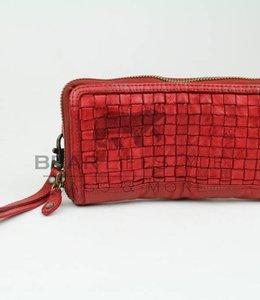 Bear Design Geldbörse CL13994 geflochten Rot