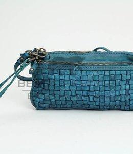 Bear Design Clutch / Geldbörse Tasche CL13997 Hellblau
