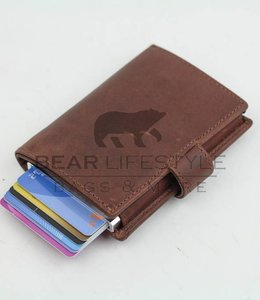 Bear Design Figuretta Anti-Skim Geldbörse Braun