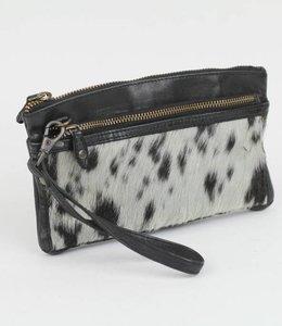 Bear Design Clutch / Geldbörse Tasche CL13997 Cow Schwarz