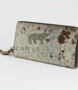 Bear Design Geldbörse mit Reißverschluss Cow HH6682 Braun