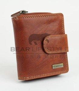 Bear Design Anti-skim Portemonnee - QN13838 Cognac