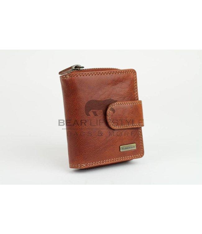 Bear Design Anti-Skim Geldb̦rse - QN13838 Cognac
