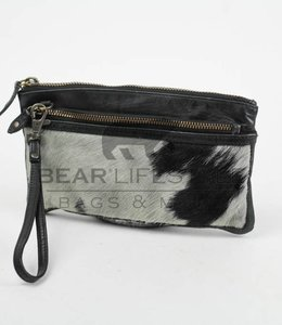 Bear Design Schoudertasje/Portemonnee CL13997 Cow Zwart