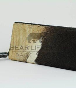 Bear Design Geldbörse mit Reißverschluss Cow HH6682 Schwarz