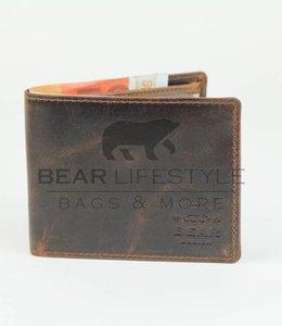 Bear Design Billfold Geldb̦rse - VG9075 Braun klein