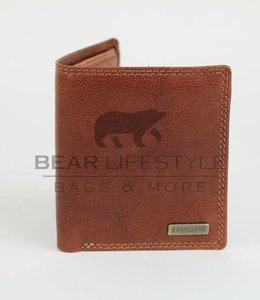 Bear Design Anti-skim Portemonnee - QN2593 Cognac