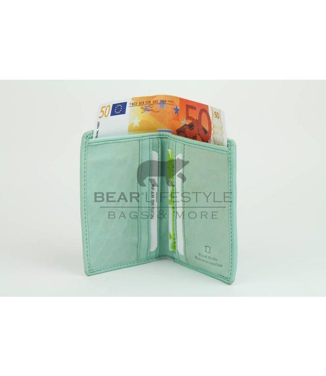 Bear Design Dünne Geldbörse CL14619 Sky Blau