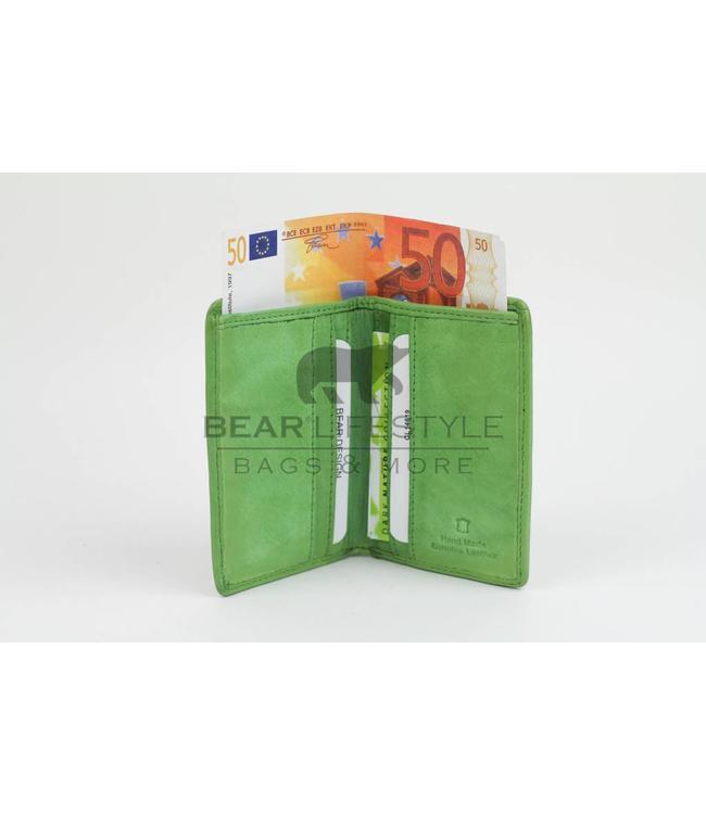 Bear Design Dünne Geldbörse CL14619 Kiwi