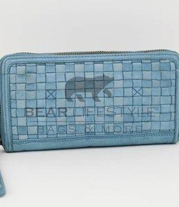 Bear Design Geldbörse CL13994 geflochten Blau