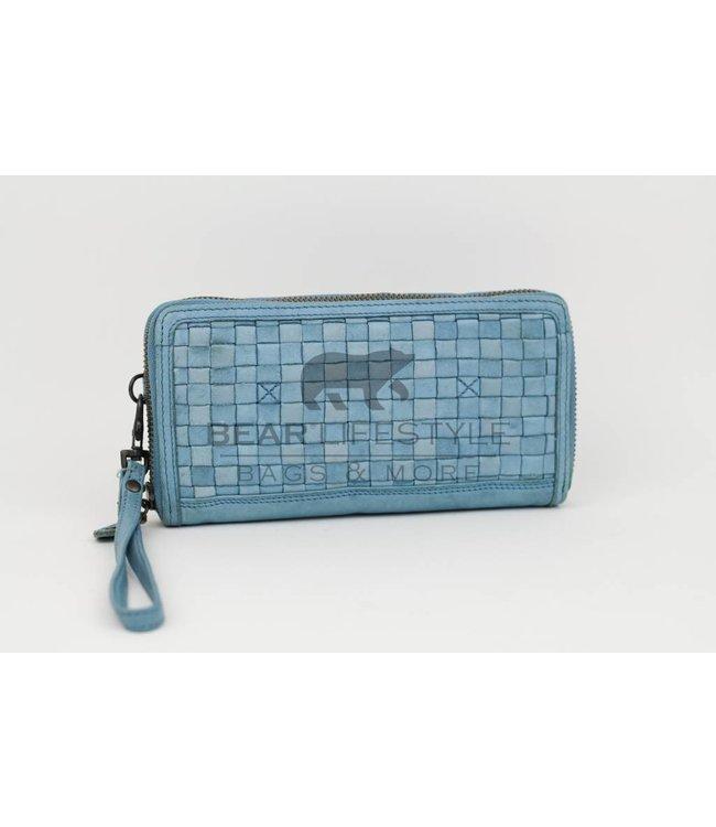 Geldbörse CL13994 geflochten  Blau