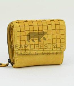 Bear Design Rits portemonnee 'Betty' - CL14616 Geel
