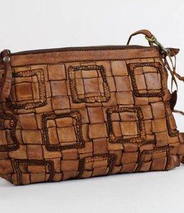 Bear Design Schoudertasje Woven - GR6352 Cognac