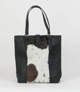 Bear Design Shopper 'Isabelle' Cow-collectie HH30673 Zwart