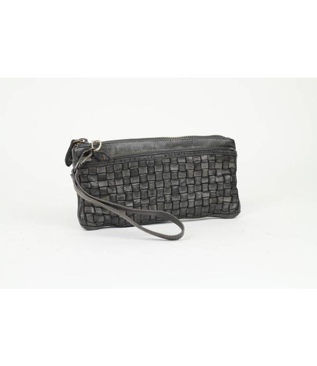Bear Design Clutch / Geldbörse Tasche CL13997 Grau