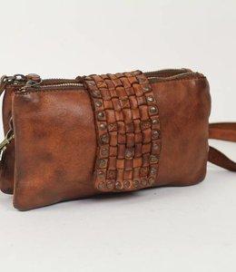Bear Design Clutch/Schultertasche GR6459 Cognac