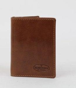 Bear Design Pasjesmap/kleine portemonnee RO9171 Cognac
