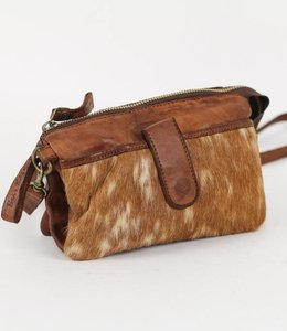 Bear Design Clutch / Umhängetasche Cow Grizzly GR6171 Cognac