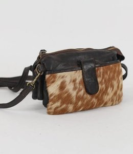 Bear Design Clutch / Umhängetasche Cow Grizzly GR6171 Schwarz