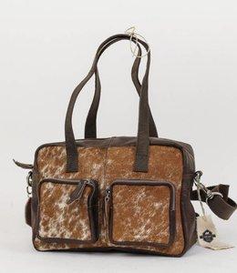 Bear Design Schouder-/Handtas Cow Klein - HH3030 Bruin