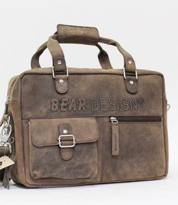 Bear Design Schouder-/Handtas YN4554 - Bruin