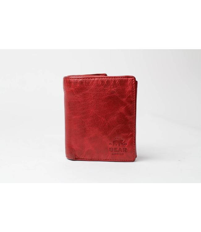 Bear Design Geldbörse / Brieftasche CL7252 Rot
