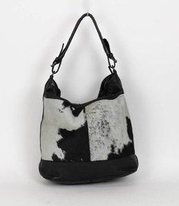 Bear Design Schoudertas 'Tess' Cow - Zwart CL35106