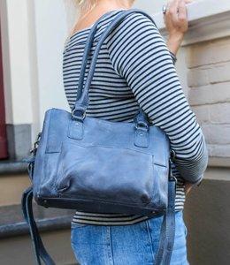 Bear Design Hand-/Schultertasche 'Rita' - CP1201 Blau