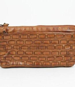 Bear Design Portemonnee/tasje 'Izzi' - Cognac CL35353 Woven