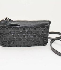 Bear Design Portemonnee/tasje 'Izzi' - Zwart CL35353 Woven