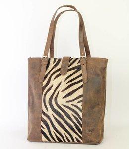 Bear Design Shopper Cow-collectie HH30673 Bruin Zebra