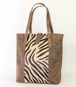 Bear Design Shopper Zebra HH30673 Braun