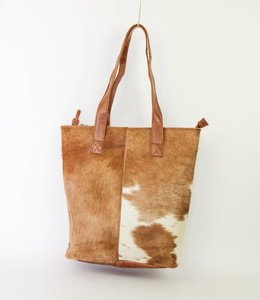 Bear Design Shopper Cow - BU2087 Cognac
