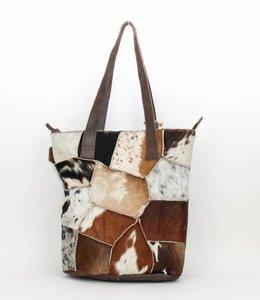Bear Design Shopper Cow Vakjes - Bruin BU2087