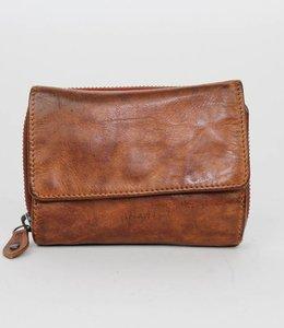 Bear Design Rits portemonnee CL14891 Cognac