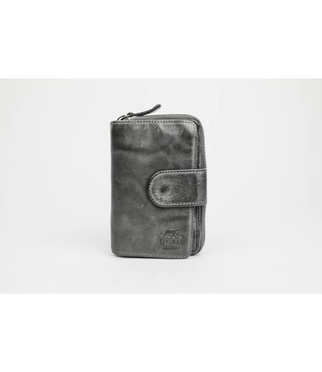 Bear Design Ritsportemonnee Grijs CL13550
