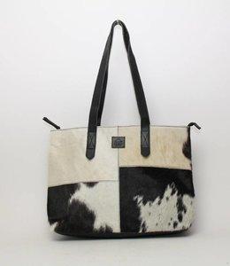 Bear Design Cow Shopper 'Linda' Medium Zwart HH32638