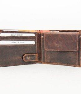 Bear Design Brieftasche - Cognac VG9596 Klein