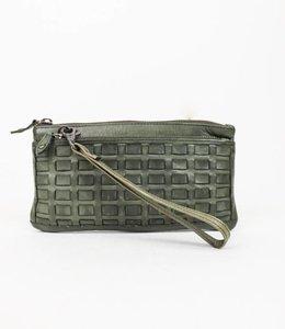 Bear Design Schoudertasje/Portemonnee - N/Woven Groen CL13997