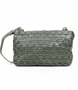 Bear Design Portemonnee tasje XL Woven - Groen CL30996