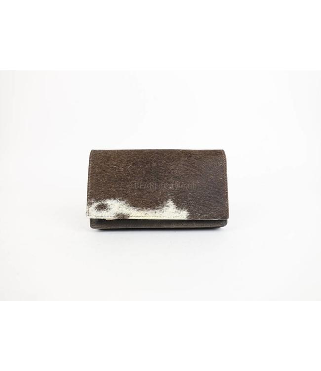 Bear Design Geldbörse Kuhfell HH782 Braun