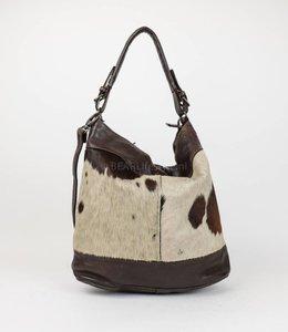 Bear Design Schoudertas 'Tess' Cow - Bruin CL35106