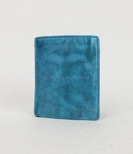 Bear Design Dunne billfold hoog - CL14985 Lichtblauw