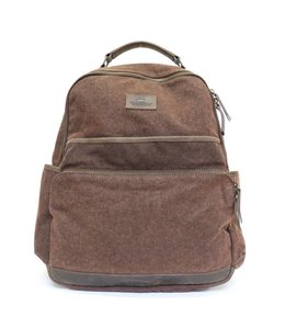 Bear Design Rucksack Canvas - Braun 32553