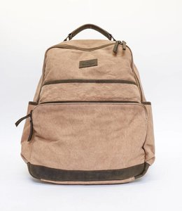 Bear Design Rucksack Canvas - Beige 32553